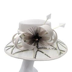 Dames Glamour/Fait main /Gentil Batiste avec Feather Kentucky Derby Des Chapeaux/Chapeaux Tea Party