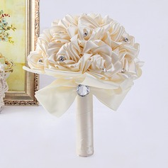 Girly Free-Form Satin Bridal Bouquets -