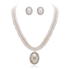 Unique Alloy/Pearl With Rhinestone Ladies' Jewelry Sets