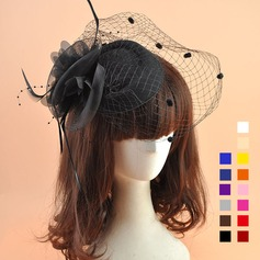 Dames Mooi Organza met Feather Fascinators (196124678)