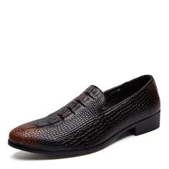 Hombres Cuero Casual Zapatos de vestir Mocasines de caballero