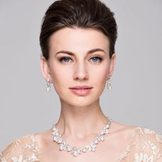 Elegant Alloy/Rhinestones With Pearl Ladies' Jewelry Sets (011050862)