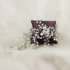 Ladies Pretty Alloy Combs & Barrettes With Venetian Pearl (Sold in single piece) (042153893)