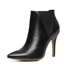 Femmes Vrai cuir Talon stiletto Bottes avec Autres chaussures