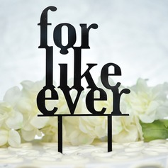"""""""älskar att bli älskad av dig""""/Söt kärlek Akryl Tårtdekoration"""