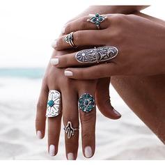 Fashional Alloy Ladies' Fashion Rings (Set of 9)