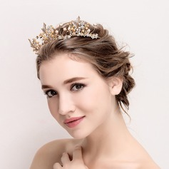 Ladies Elegant Alloy/Imitation Pearls Tiaras (042118154)