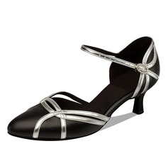 Women's Real Leather Heels Pumps Ballroom Dance Shoes