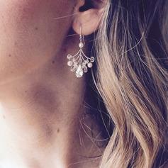 Beau De faux pearl avec De faux pearl Dames Boucles d'oreilles