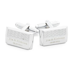 Personalized With Gift Box Stainless Steel Cufflinks (Set of 2)