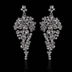 Elegant Strasssteine/Kupfer Damen Ohrringe
