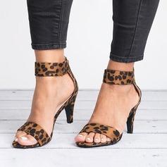 Женщины Замша Низкий каблук Сандалии обувь