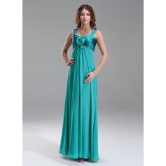 Império Amada Longos Tecido de seda Charmeuse Vestido para madrinha grávida com Pregueado fecho de correr