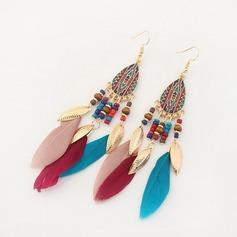 Gorgeous Legering Fjäder Damer' Mode örhängen