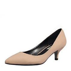 Women's Suede Stiletto Heel Pumps Closed Toe With Others shoes (085155280)