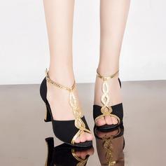 Женщины кожа Замша На каблуках Сандалии Латино Обувь для танцев