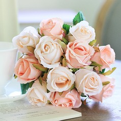 Romantic Artificial Silk Bridal Bouquets/Decorations/Wedding Table Flowers (Sold in 3 bunches,a bunch of twelve) - (123104967)