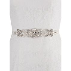 De moda Satén Fajas con Diamantes de imitación (015080733)