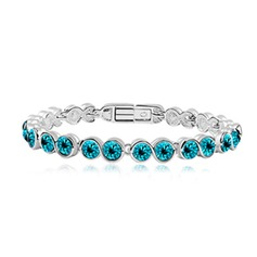 Tennis Alloy With Crystal Women's Bracelets