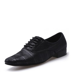 Men's Real Leather Latin Modern Dance Shoes (053128295)