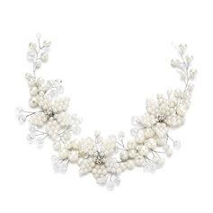Damer Klassisk stil Crystal/Imitert Perle Pannebånd med Venetianske Perle/Crystal (Selges i ett stykke)