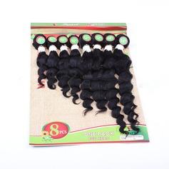 Djup syntetiska hår Våg av människohår 8pcs