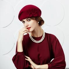 Damer' Vackra Och/Mode Ull med Blomma Basker Hat