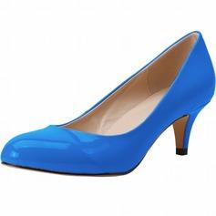 De mujer Piel brillante Tacón en cono Salón Cerrados zapatos