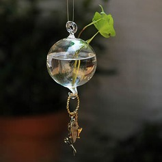 Diameter 10cm Pretty Hanging Round Glass Vase (Sold in a single piece)