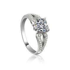 Elegant Zirkoon met Strass/Kristal Dames Ringen