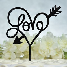 Söt kärlek/Förälskelsefåglar Akryl Tårtdekoration