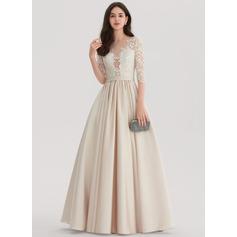 Платье для Балла Круглый Длина до пола Атлас Вечерние Платье