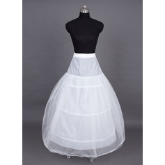 Women Nylon/Tulle Netting Floor-length 3 Tiers Petticoats