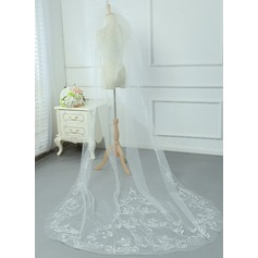 Two-tier Cut Edge Cathedral Bridal Veils With Lace (006090091)