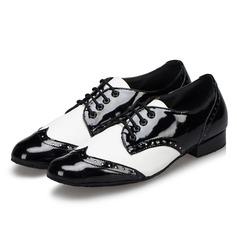 Hommes Similicuir Escarpins Tennis Latin Salle de bal Swing Pratique Chaussures de Caractère avec Dentelle Chaussures de danse