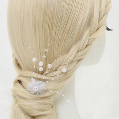 Lovely Liga/Falso pérola/Tule Grampos de cabelo (Vendido em uma única peça)