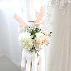 Refined Free-Form Cloth Wrist Corsage -