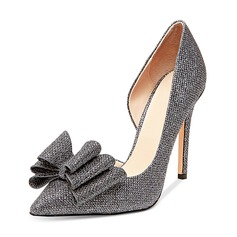 Women's Leatherette Pumps With Bowknot