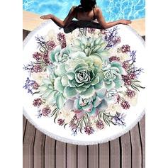 Blommig överdimensionerad handduk