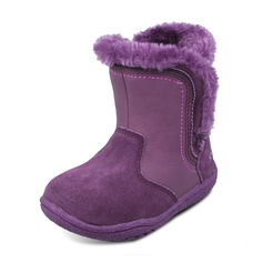 Girl's Leatherette Suede Flat Heel Round Toe Closed Toe Snow Boots Boots With Sequin Velcro