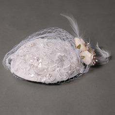 Elegant Lace/Silk Flower Fascinators
