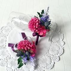 Fascinante Cintas/Seda artificiales Conjuntos de flores ( conjunto de2) - Ramillete de muñeca/Boutonniere