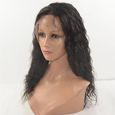 4A non remy Kinky Straight Cheveux humains Perruques avant en dentelle