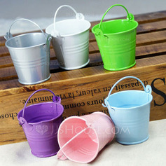 Lovely Cilindro Metal Latas de favor e baldes  (050005515)