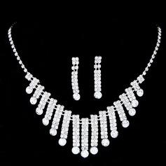 Bonito Liga/Strass Mulheres/Senhoras Conjuntos de jóias