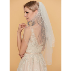 Two-tier Scalloped Edge Waltz Bridal Veils