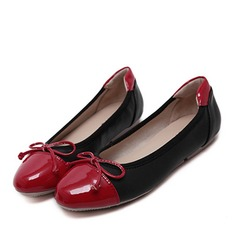 Women's Leatherette Stiletto Heel Flats With Bowknot Split Joint shoes