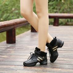 Unisexe Vrai cuir Tennis Tennis avec Dentelle Chaussures de danse