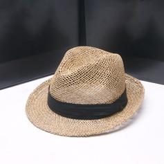 Män Mode/Elegant/Unik Salt halm Fedora Hat