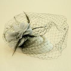 Dames Mooi Feather/Netto garen/Zijde Bloemen/Fluwelen Fascinators/Theepartij hoeden